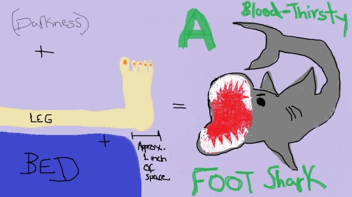 A Blood-thirsty FOOT SHARK